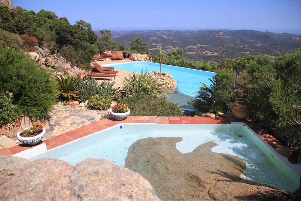 domaine de piscia corse piscine vue panoramique